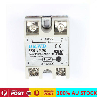 New SSR-10 DD DC-DC 10A 3-32V DC/5-60V DC Solid State Module Solid State Relay