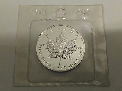 1989 Canadian Maple Leaf 1 oz .9999 Silver Coin (Sealed in Original Packaging)