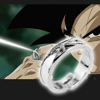 Zinc alloy Dragon Ball Super Saiyan Black Gokou Son Time Finger Ring Cosplay Toy