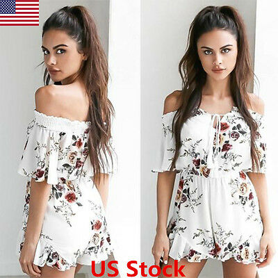 USA Women Ladies Clubwear V Neck Playsuit Bodycon Party Jumpsuit&Romper Trousers
