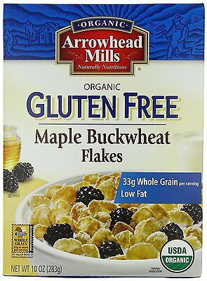 Arrowhead Mills Gluten Free Cereal, Organic Maple Buckwheat Flakes, 10 Ounce Pa