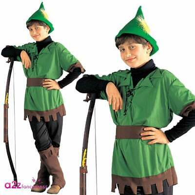 Robin Hood Boys Costume Prince of Thieves Book Day Kid Childrens Fancy Dress