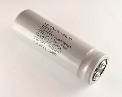 LOT OF 2 MEPCO 13500uF 35V Large Can Electrolytic Capacitor 3186EE133U035BMA2