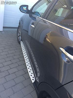 To Fit 10 - 14 Kia Sportage Polished Aluminium Side Running Boards Bars Steps