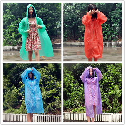 Transparent Thin Long Section Raincoat Travel portable Camping Waterproof Poncho