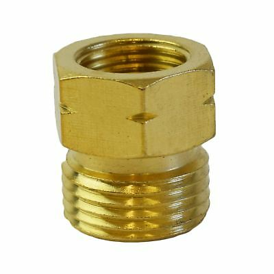 Gas Hose Adapter 21.8-14 To G 3/8-19 Regulator Bottle Pipe Burners Brass Threa