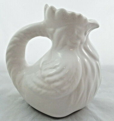 VTG Jay Willfred Andrea by Sadek Portugal White Rooster Pitcher Farmhouse Chic
