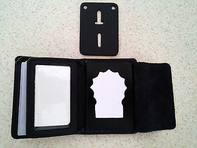 NYPD Detective Style Badge Wallet RFID BiFold Money, 5 C/C Slots,Pictures, BIW10