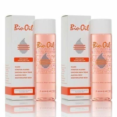 200ML Twin Pack Bio Oil Specialist Skincare Oil for Scars, Stretch Marks remover