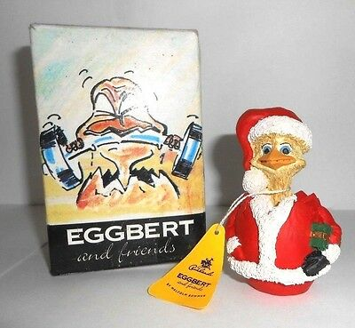 Father Eggmas EGGBERT Christmas model dated 1990 with box and tag