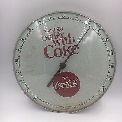 1964 Vintage Original Coca Cola Thermometer Sign
