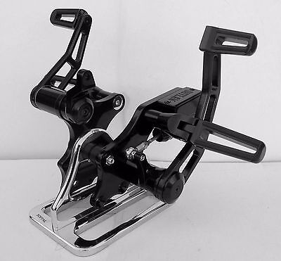 """Outlaw Black Forward Controls 2000-2017 Softail Fx Fl +2"""" Extended Harley"""
