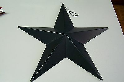 Large Patriotic Americana July 4th Navy Blue Metal Star Ornament 12 Inch
