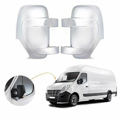 Renault Master wing mirror cover cap chrome / Left&Right BA30LR