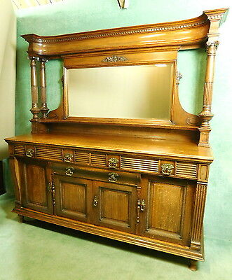 Large Edwardian Scottish Mirror Back Sideboard - Delivery Available