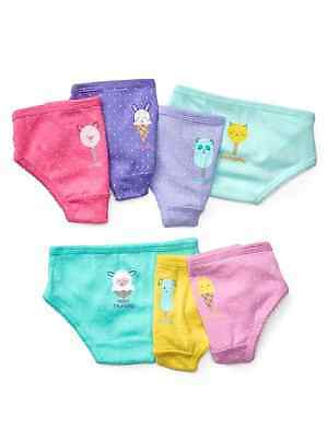 New Gap Kids 7 Pack Panty Underwear 2T 3T 4T 5T NWT Days of Week 7 Pairs Girls