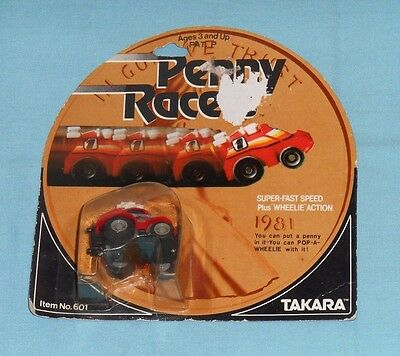 vintage Takara Penny Racers PENNY RACERS red BACK PACKER MOC