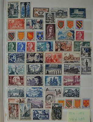 France 1954 - 1956 Stamps Collection MH and Used (O001France)