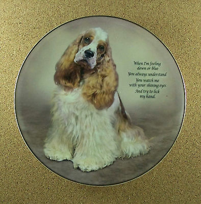 Cherished Cocker Spaniels ALWAYS UNDERSTAND Plate Dog Puppy Danbury Mint Spaniel