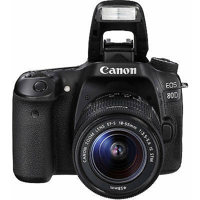 Sale Canon Eos 80D 24.2 Mp Dslr Camera + Ef-s Is Stm 18-55mm Lens 1263C005