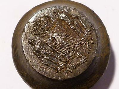 Antique ITALIAN ITALY Coat of Arms LIVERY  Button Makers Iron Die Mold #BM29