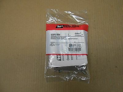 1 Nib Walker 828Pr-Brn 828Prbrn Receptacle Plate Brown