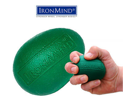 New IronMind Green Egg Hand Grip Strengthener, Stress Relief and Rehabilitation