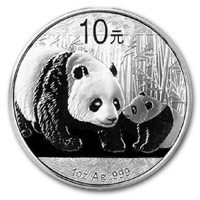 Chinese Mint China ¥ 10 Yuan Panda 2011 1 oz .999 Silver Coin