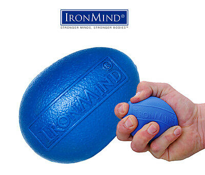New IronMind Blue Egg Hand Grip Strengthener, Stress Relief and Rehabilitation
