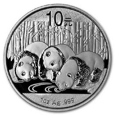 Chinese Mint China ¥ 10 Yuan Panda 2013 1 oz .999 Silver Coin