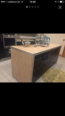 Black gloss kitchen and utility including all Neff appliances
