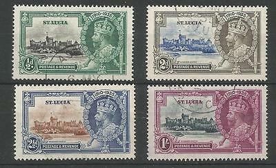 St Lucia The 1935 Gv Silver Jubilee Set Fine Used Cat £24