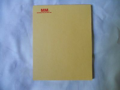 Minneapolis Moline Tractor Brand Dealer NOTE PAD RARE VERY GOOD COLOR ~40 pages