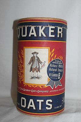 Vintage QUAKER OATS Cardboard Container Empty Opened Novelty Collectible T