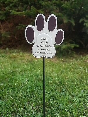 Pet Memorial Ornament Beautiful Beloved Cat Paws Stick