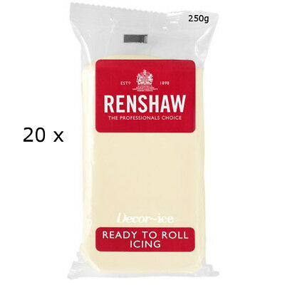 5 Kg Renshaw Ready Roll Icing Fondant Cake Regalice WHITE CHOCOLATE FLAVOUR