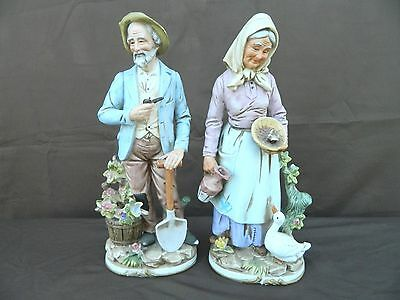 "Home Interior figurines  #8816 14"" old couple  Merit Gift"