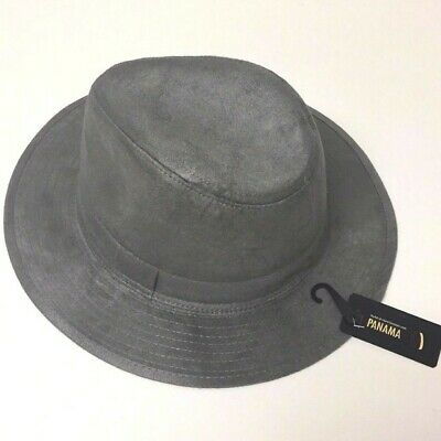 NEW Panama Hat Floppy Brim Light Wool Fedora Trilby Cuban Cap Black, Halloween!