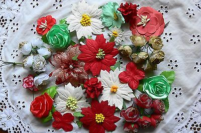 CHRISTMAS VALUE PACK - 37 Flowers approx 25 to 80mm across - MH & GT