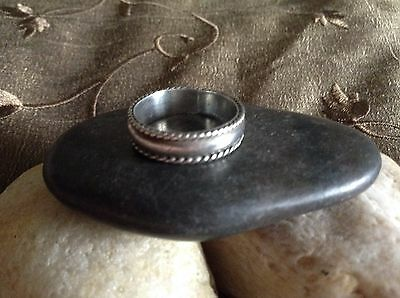 HAUNTED WICCA .Genuine Sterling Silver vintage Band Ring  ~ SIZE 6
