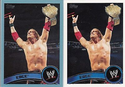2011 TOPPS WWE 2 EDGE WRESTLING CARDS ONE IS A 2011 MADE BLUE CARD Verzamelkaarten: sport