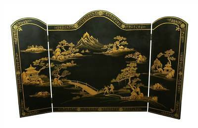 Japanese Landscape Lacquer Fireplace Screen [ID 319370]
