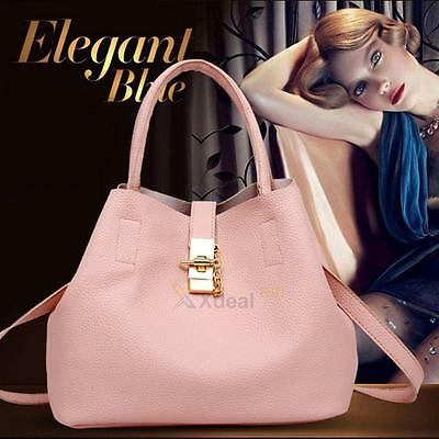 Women PU Leather Shoulder Messenger Bag Tote Purse Handbag Crossbody Bag Satchel