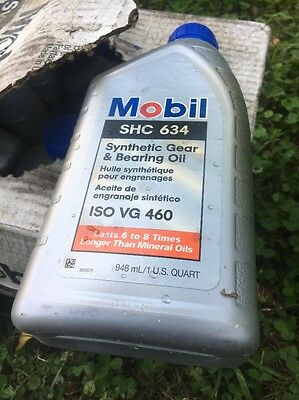 Mobile SHC 634 Synthetic Gear & Bearing Oil FULL CASE 12 Quarts ISO VG 460