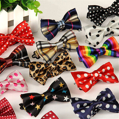 Men Fancy Satin Toddler Bowtie Pre-Tied Necktie Kids Wedding Party Bow Tie Gifts