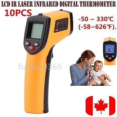 1/5/10PCS  Non-Contact LCD IR Laser Infrared Digital Temperature Thermometer GYT