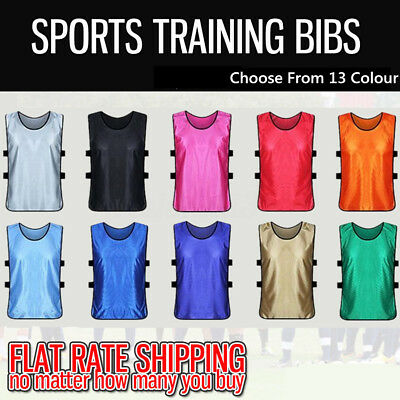 10x Adult Sports Training Bibs Vests Top Basketball netball cricket soccer rugby