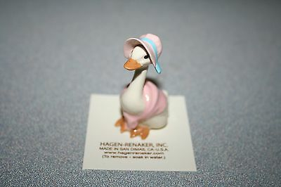 Hagen Renaker New Mother Goose Pink Figurine Miniature New Free Shipping 20571
