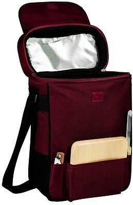 Picnic Time Duet Wine and Cheese Tote With 2 Insulated Compartments For WIne