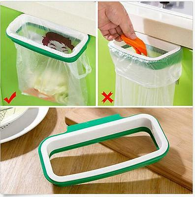 Portable Plastic Door Garbage Trash Bag Box Can Rack Hang Holder Kitchen Tool